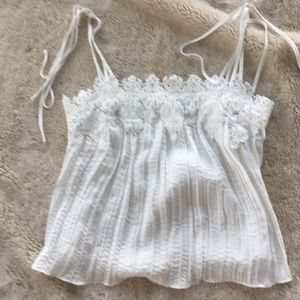 Anthropologie camisole. Lacey details